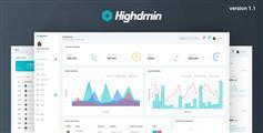响应式Bootstrap4后台管理两种导航模板|Highdmin