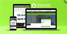 綠色Bootstrap響應式房產中介網站Html模板|HomeRelief