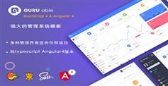 后台管理模板Bootstrap4和Angular4版本|GuruAble