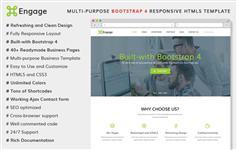 bootstrap4企业/电商等建站前端engage_full_1.3.2 英文原版