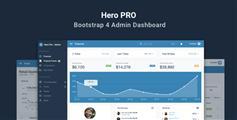 响应式Bootstrap4管理后台HTML5模板|HeroPRO