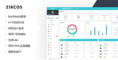 Zircos-材料设计和Bootstrap后台管理模板Html界面