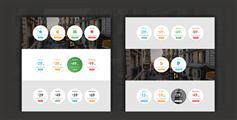 漂亮的纯CSS3圆形价格表带动画效果|Circular