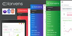 最新Bootstrap4管理后台模板HTML框架|Lorvens