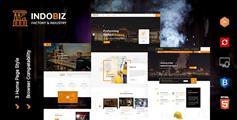 响应式大型工厂网站HTML模板
