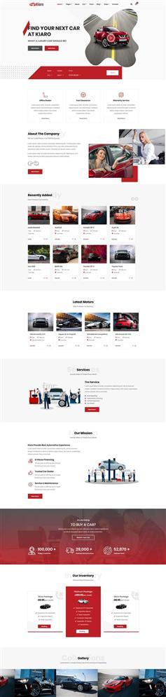 红色响应式汽车销售服务网站HTML模板