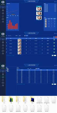 HTML人脸识别监控系统管理后台模板