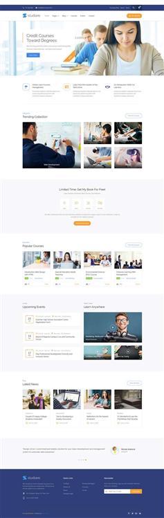 HTML5在线课程教育学校网站模板