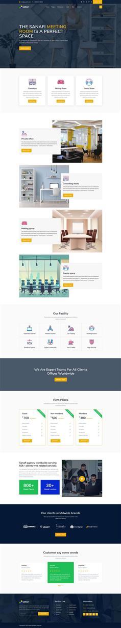 bootstrap框架办公室租赁网站模板