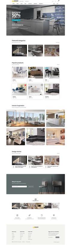 html室内家具购物网站电商模板