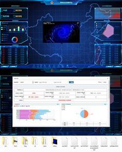 交通警务综合监控系统大屏幕模板