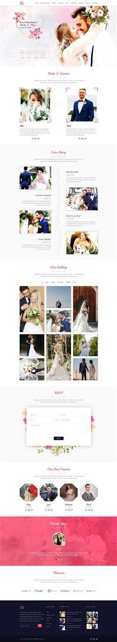 html5婚纱摄影婚礼bootstrap主题网页模板