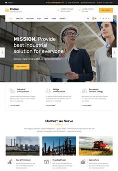 Bootstrap大气响应式企业网站前端模板