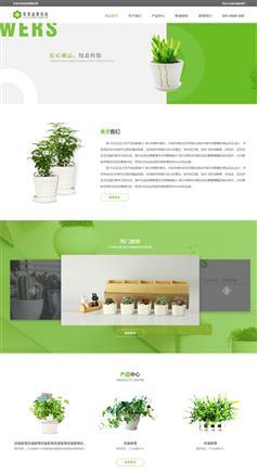 自适用绿色的盆栽花店网站html5模板