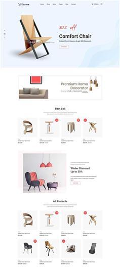 大气简洁Bootstrap家居电商购物商城网站模板
