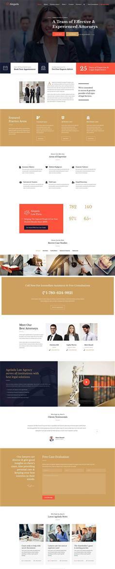 大气宽屏Bootstrap响应式法律服务企业网站模板