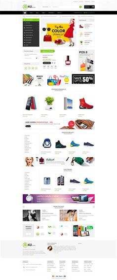 精美Bootstrap4综合电商网站模板商城框架