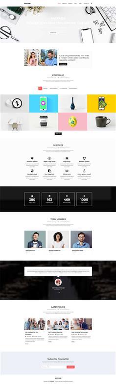 Bootstrap简约大气响应式品牌设计公司网站模板
