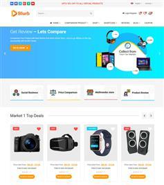购物比价网站优惠券电商网站HTML5模板