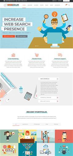 非常靈活的創意公司網站Html模板響應式