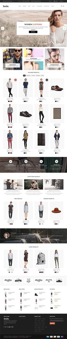 黑白簡約Bootstrap響應式服裝電商購物網站模板