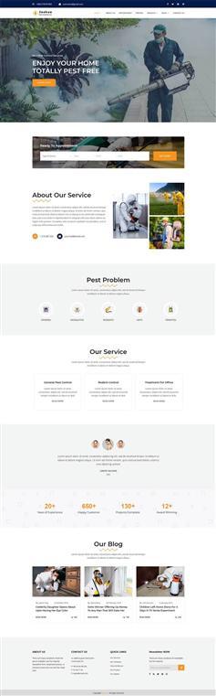 农业除虫科技公司bootstrap网站模板