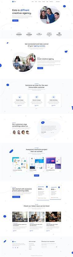 创意的微小企业工作室网站模板
