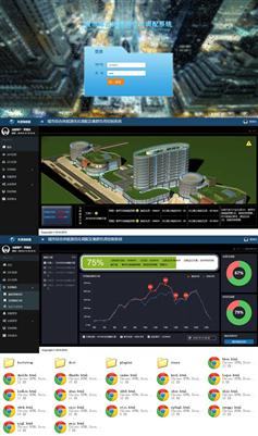 HTML城市能源调配控制系统管理系统模板