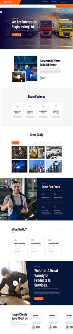 HTML5响应式的工业生产业务网站模板