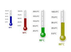 canvas數字溫度計動畫