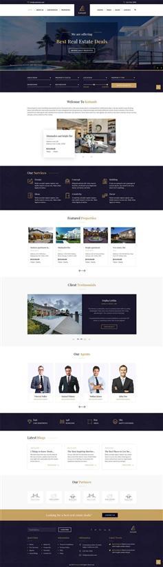 响应式bootstrap房地产电商销售网站模板