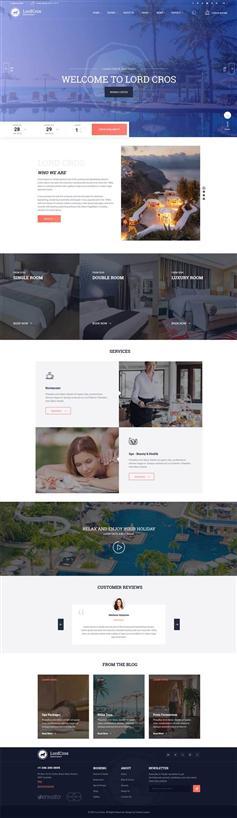 大气响应式酒店度假村休闲HTML模板