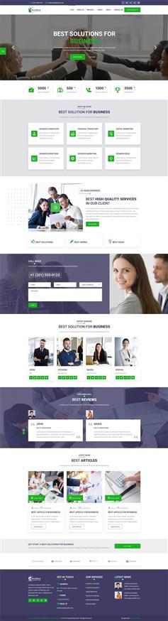響應式商業投資管理公司網站HTML5模板