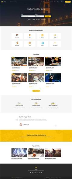 生活服务商家入驻平台网站html模板