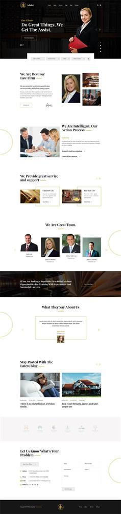 響應式法律律師咨詢公司HTML5模板