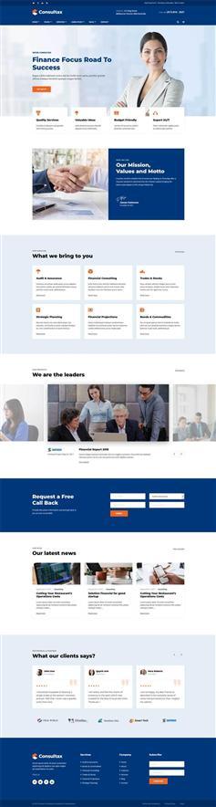 大气响应式商业财务咨询网站HTML5模板