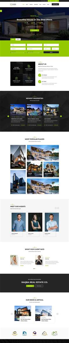 响应式html房地产交易销售平台模板