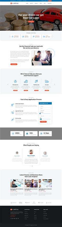 响应式p2p小额贷款公司网站html模板