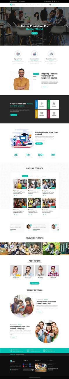 响应式bootstrap教育课程销售网站模板