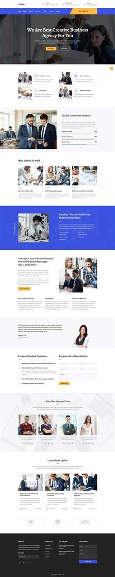 蓝色大气HTML5商业咨询管理公司模板