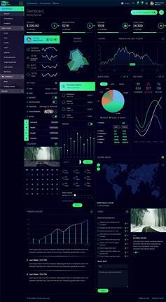 html5电商业务数据分析管理后台模板
