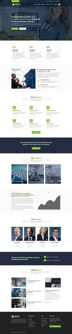 响应式商业顾问咨询公司网站bootstrap模板