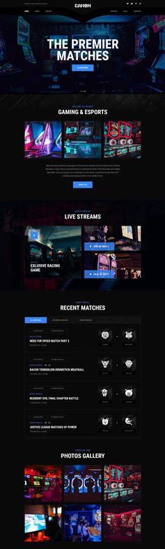 炫酷HTML5电子竞技游戏官网模板