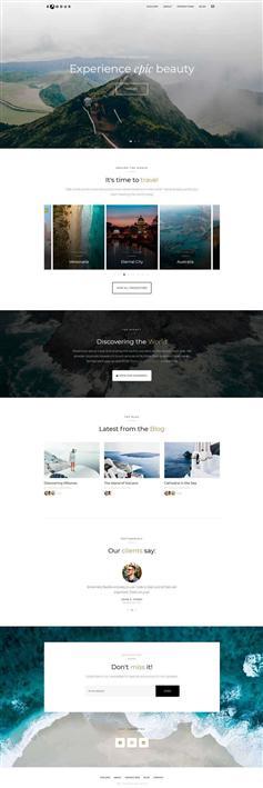 响应式HTML5旅行摄影记录博客模板
