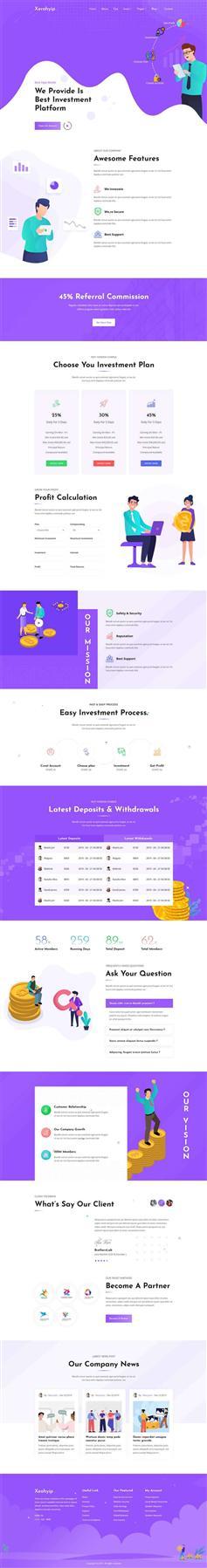 时尚的货币金融投资企业网站HTML模板