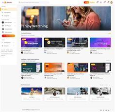 响应式网络视频共享平台网站HTML模板