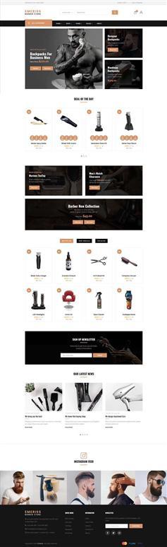 时尚的响应式理发店购物网站前端模板
