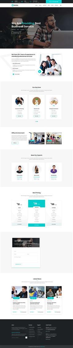 响应式html商务企业咨询网站模板