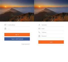 登錄和注冊手機端html頁面下載