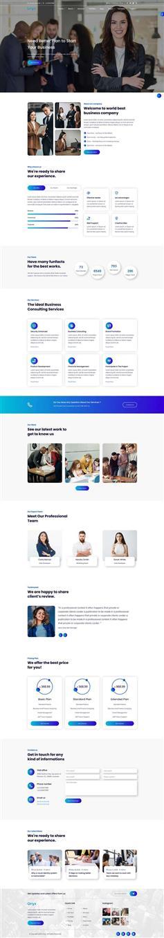 时尚HTML5商务咨询服务网站模板
